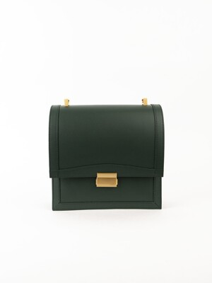 Brick square bag (Deep green)