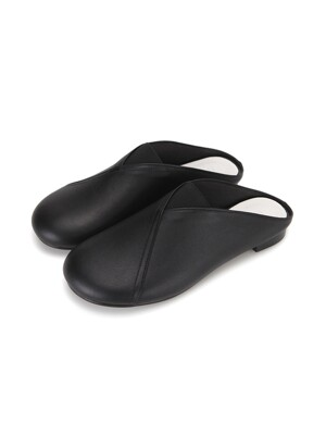 Pebble Toe Mules | Black