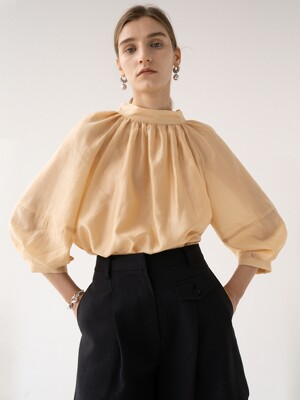 SS21 Gathered Neck Blouse Golden