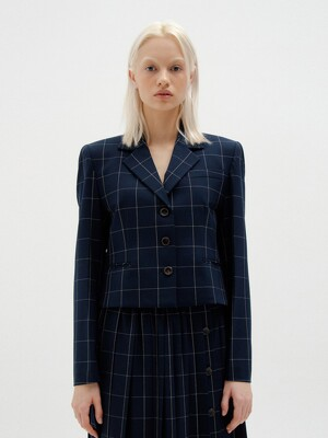 SAVI Single-Breasted Blazer - Navy