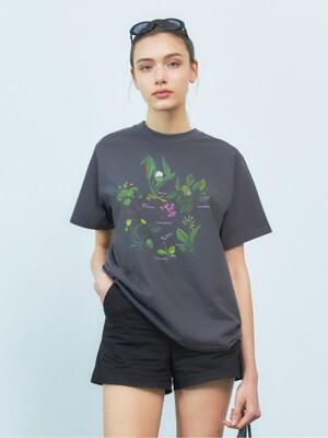 [BREEZE] Botanical Garden T-Shirts_CHARCOAL (CTD1)