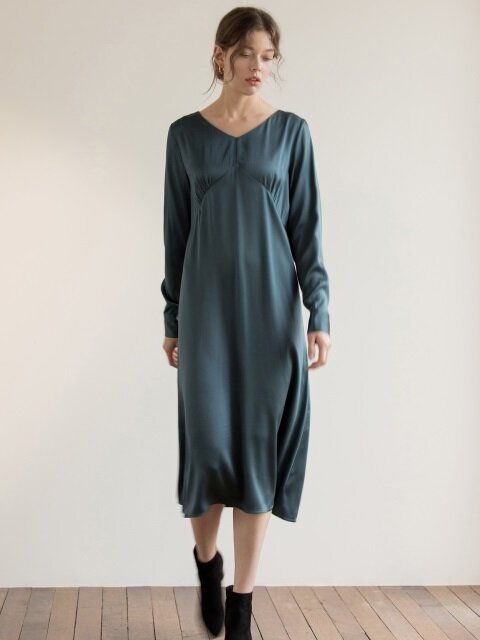Clin Dress(Turquoise)