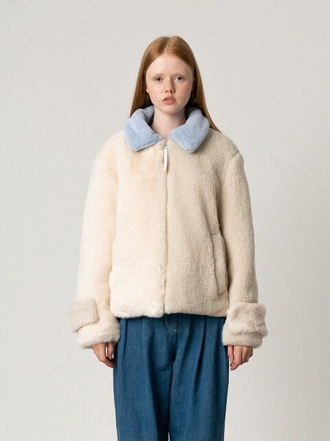R ECO FUR MIX BLOCK JP_IVORY