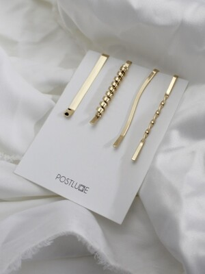 [단독][4SET] WAVE HAIR PIN SET (B)
