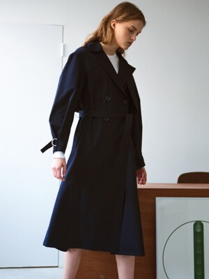 Light weight trench coat, navy