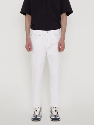 CROP FIT DENIM PANTS_WHITE