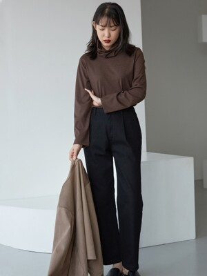 basic twill pants _ black
