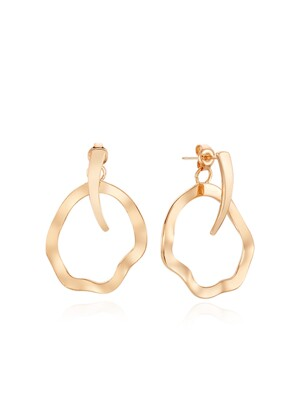 EM9909 Two Way Wave Earring
