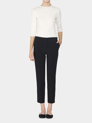 BLACK MORGAN STRAIGHT TAILORED PANTS