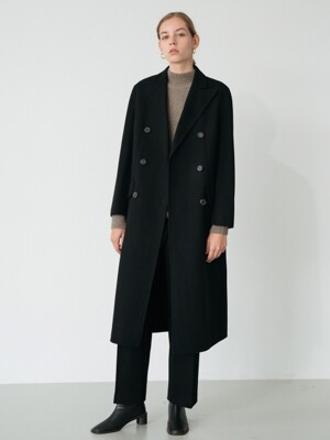handmade double coat (black)