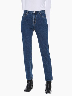 LW024 BASIC SLIM STRAIGHT DENIM_DARK BLUE