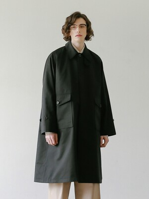 RECEPTION UNIFORM OVERSIZED BALMACAAN COAT (BLACK)