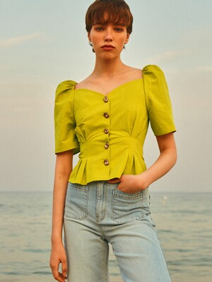 Volume Blouse_Lime