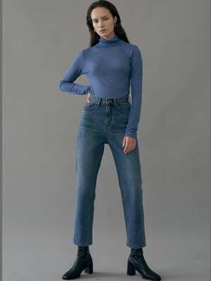 Straight Denim Pants / Blue