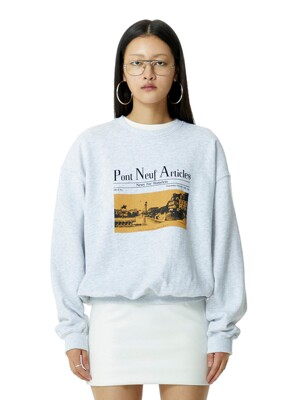 Pont Neuf Pullover Light Grey