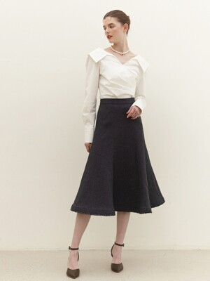 HELEN Semi-mermaid skirt (Charcole gray)