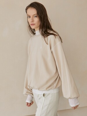 Bijou Puff Sweat Shirt_Light Beige