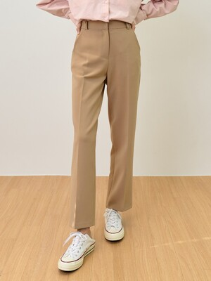comos'476 semi straight slacks (beige)