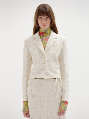 SAVI Single-Breasted Blazer - Ivory