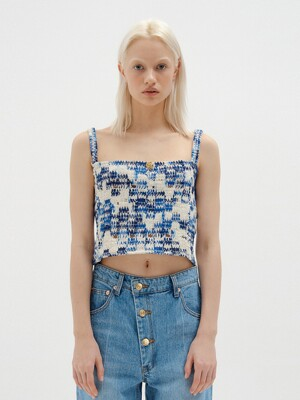 SONNY Buistier Top - Blue/Ivory