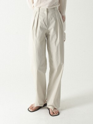 Two Tuck Easy Pants (2colors)