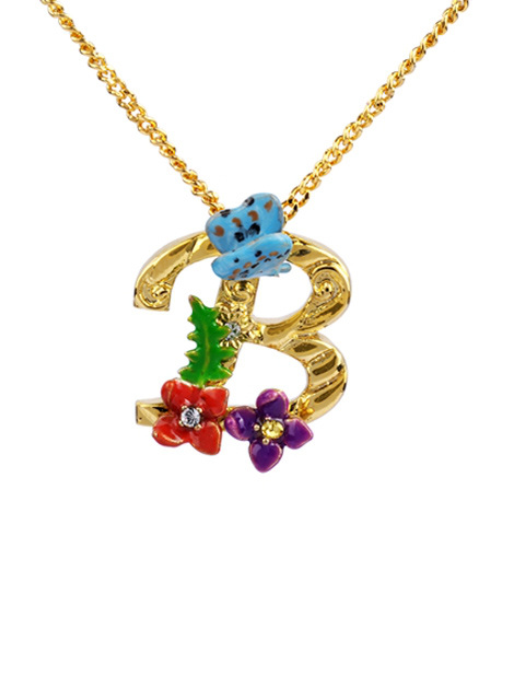 Initial Necklace - Little B