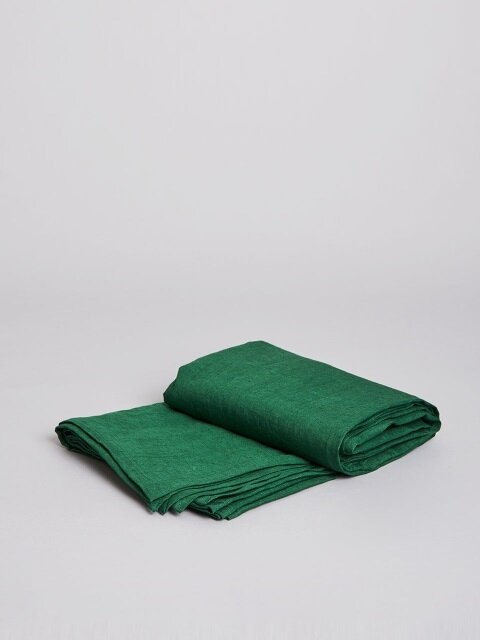 premium linen spread_ deep green (딥그린)
