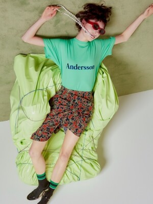 UNISEX ANDERSSON SIGNATURE EMBROIDERY TEE atb211u(Mint Green)