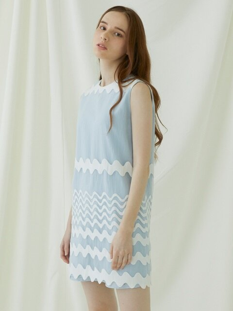 Waven Dress - blue