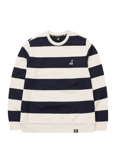 Wide Stripe Sweatshirt 1601 Navy