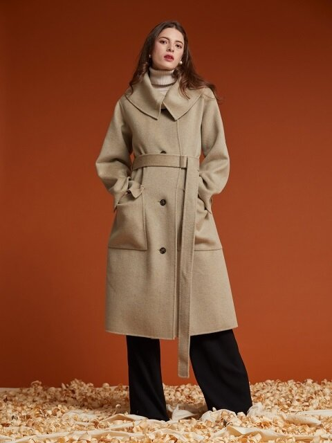 HANDMADE KARA WOOL COAT [HB-CO-805]