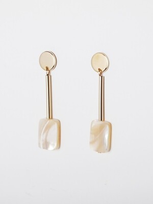 square nacre `drop` earring