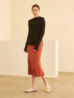 19SS FOUR VENTED SKIRT CALM RED