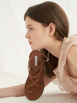 berrys sandal - brown