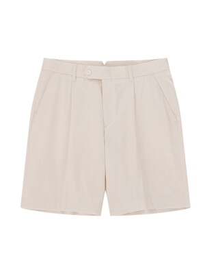 One tuck short pants (Cream)
