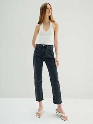 [19FW NEW_DENIM] Mid-rise Straight Jeans_Grey