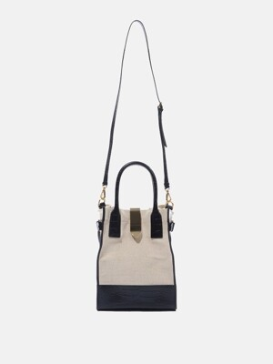 Vertical Haze Bag Ivory&Black