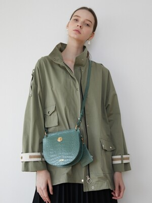 Round-up Crocodile bag_Olive Green