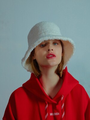 Teddy bucket hat 002 White
