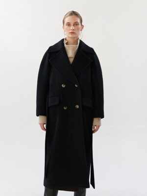NTW CASHMERE WIDE COLLAR COAT 2COLOR