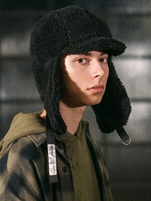[unisex]F/W FUR REVERSIBLE TROOPER HAT BLACK