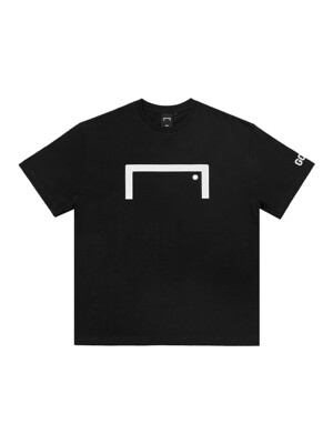 FRONT BIG LOGO TEE ( LOOSE FIT) - BLACK