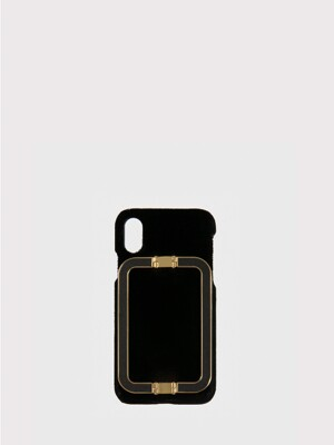 IPHONE X/XS CASE LINEY VELVET BLACK