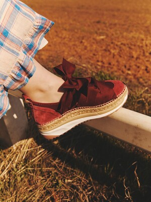 CHUNKY ESPADRILLE SNEAKERS_BURGUNDY
