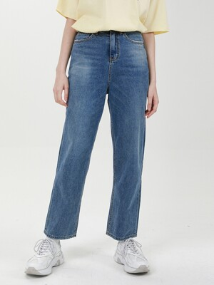 STRAIGHT WIDE DENIM PANTS C518PT004-DB