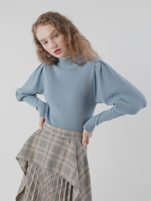 20FW CASHMERE PUFF PULLOVER/ BLUE