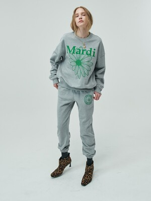 SWEAT PANTS UNIV GREY-GREEN