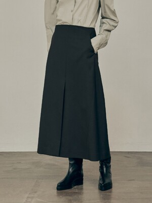 20FW A LINE SKIRT - DARK BROWN