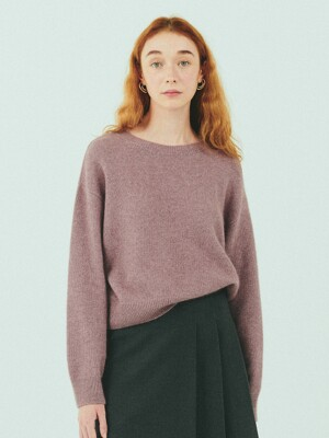 BENSIMON MERINO WOOL CROP KNIT - PINK