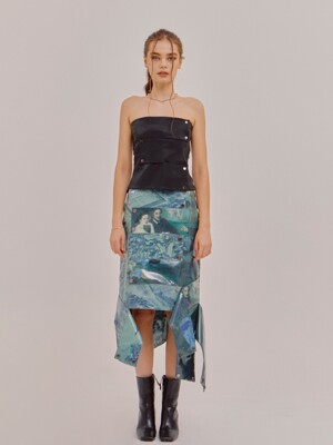 EAST AND WEST CROSSOVER CUTTING SKIRT